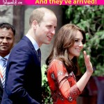 Finally!! Prince William and Kate Middleton arrive in Mumbai --view pics!