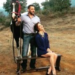 Salman Khan and Elli Avram's CANDID moment from Being Human's shoot is beyond perfect –view pic!