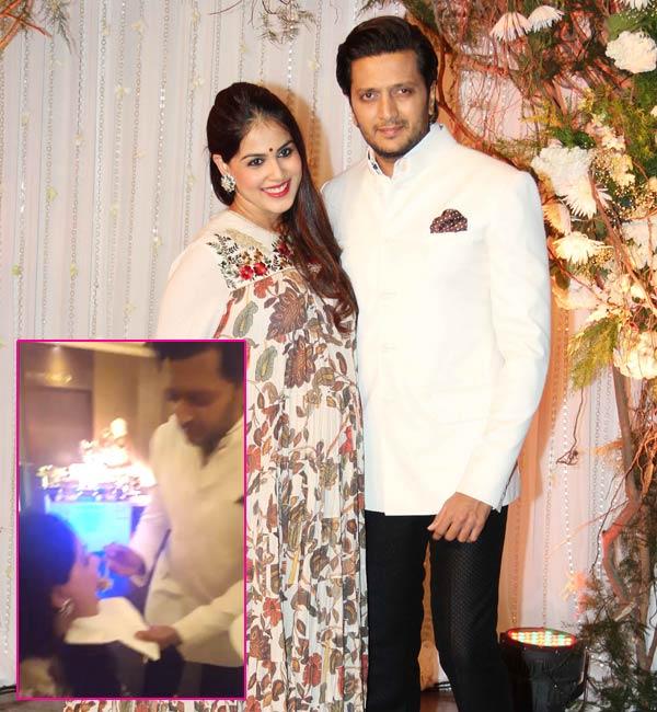 Riteish Deshmukh Feeding His Pregnant Wife Genelia DSouza At Karan Bipashas Wedding Will