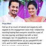 Priyamani has the perfect comeback for those who trolled her for her engagement with Mustufa Raj!