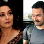 WTF! Madhuri Dixit chased Aamir Khan with a hockey stick - watch video