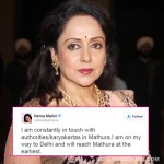 Mathura controversy: Hema Malini TROLLED for posting shoot pics, clarifies herself!