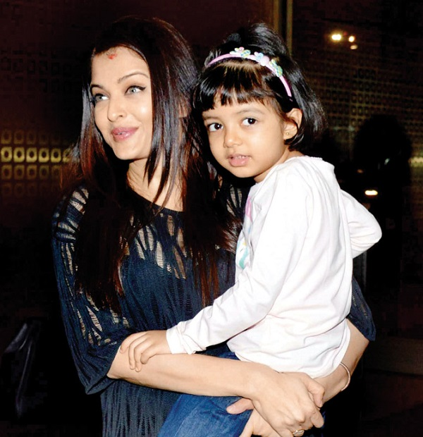 Image result for aishwarya rai and her daughter