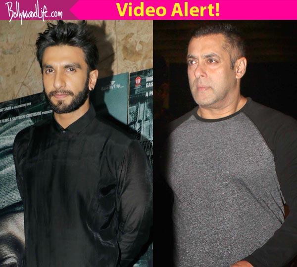 Ranveer Singh REACTS to Salman Khan's comment on breaking ...
