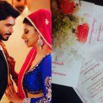 EXCLUSIVE! Check out Sambhavna Seth and Avinash Dwivedi's simple yet sweet wedding card!