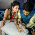 Sambhavna Seth is a lady in red at her mehendi ceremony - view pics!