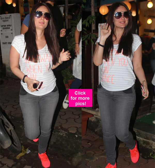 Kareena Kapoor Khan flaunts her baby bump in style and we are loving it – view HQ pics!
