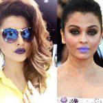 Urvashi Rautela tries to ape Aishwarya Rai Bachchan's purple lips and rocks it!