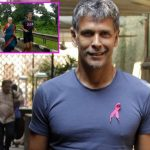 Milind Soman's mother runs with him in a saree and the internet goes crazy - watch video!