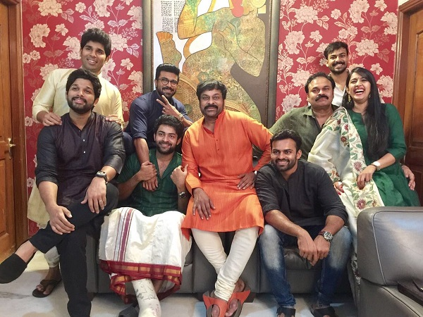 Image result for allu sirish and mega star