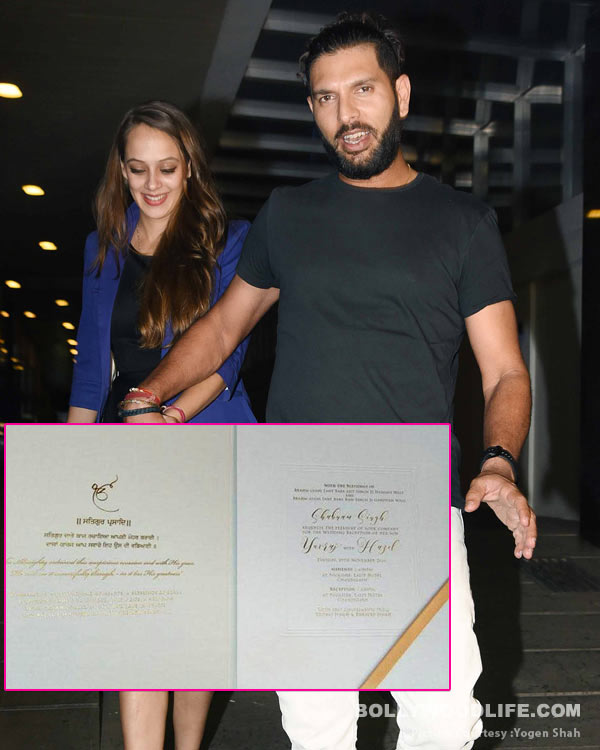 REVEALED Yuvraj Singhs wedding card is simply a knockout view