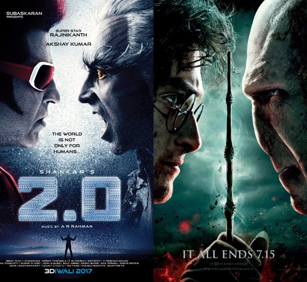 Akshay Kumar And Rajinikanths   First Look We Found  Similar Hollywood Posters And One