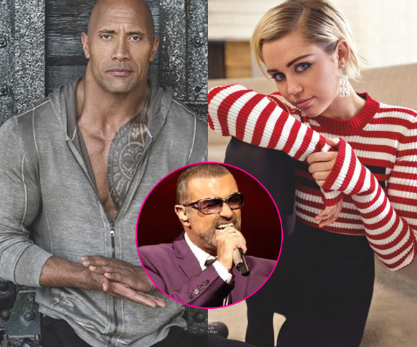 Dwayne Johnson, Miley Cyrus, Ellen DeGeneres