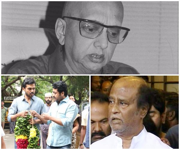 Rajinikanth, Sivakumar, Suriya, Karthi pay homage to late ...
