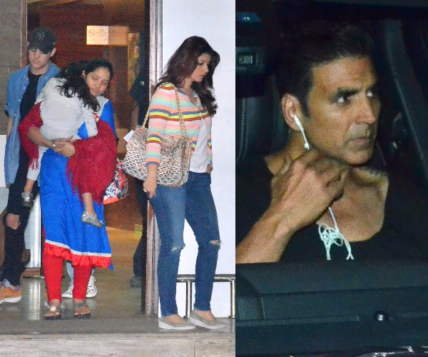 Akshay Kumar and Twinkle Khanna spotted with their kids Aarav and Nitara at  the airport –