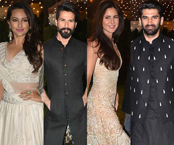 Katrina Kaif Aditya Roy Kapur Sonakshi Sinha Shahid Kapoor Dazzle At The Wedding