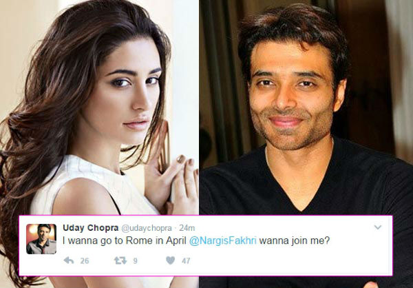 uday chopra wants to go to rome with nargis fakhri