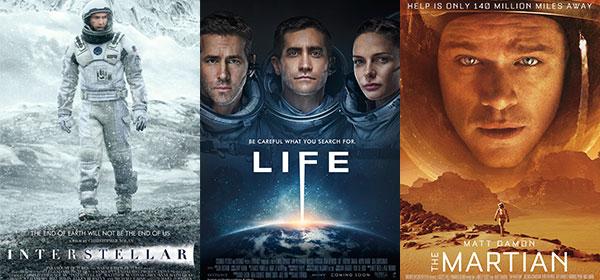 gravity interstellar the martian 7 space movies to