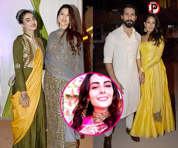 Shahid Kapoor – Mira Rajput, Gauahar Khan, Bani J attend Mandana Karimi's wedding bash – view HQ pics