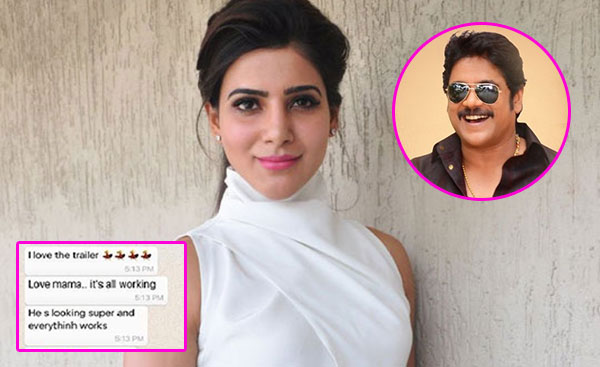 Nagarjuna's Candid Whatsapp Chat With Samantha