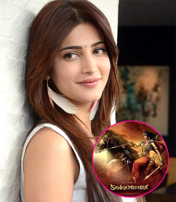 Image result for Shruti Haasan wishes team Sangamithra