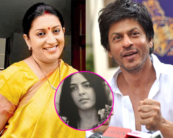 Shah rukh khan reveals he was the one who named smriti iranis shah rukh khan reveals he was the one who named smriti iranis step daughter sciox Images