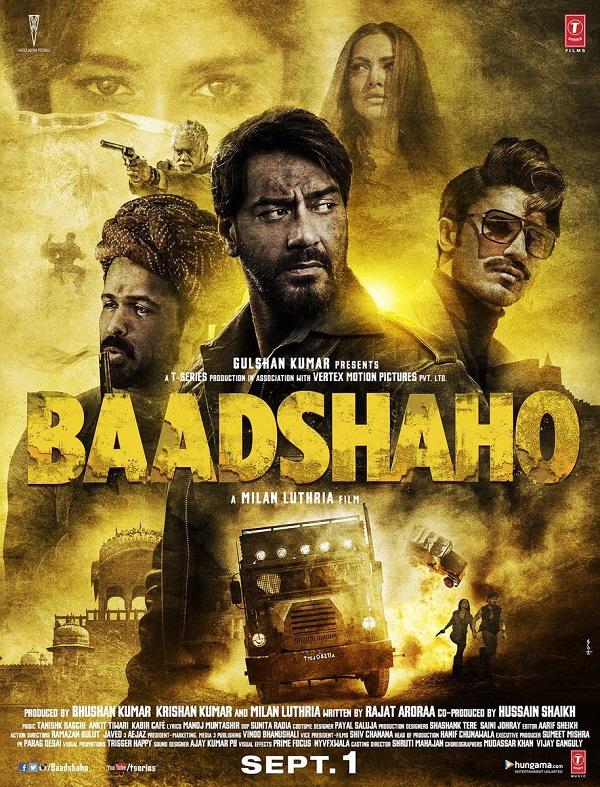 Baadshaho poster: Ajay Devgn, Emraan Hashmi, Vidyut ...