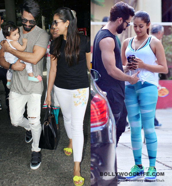 shahid kapoor and mira rajput hit the gym while misha is tucked safely at home   view hq pics