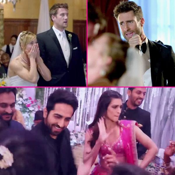 Kriti sanon and ayushmann khurrana gatecrashing a wedding for Maroon 5 wedding video