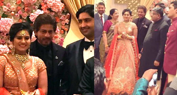 Photos Shah Rukh Khan Attends Union Minister Ravi Shankar Prasads Daughters Wedding
