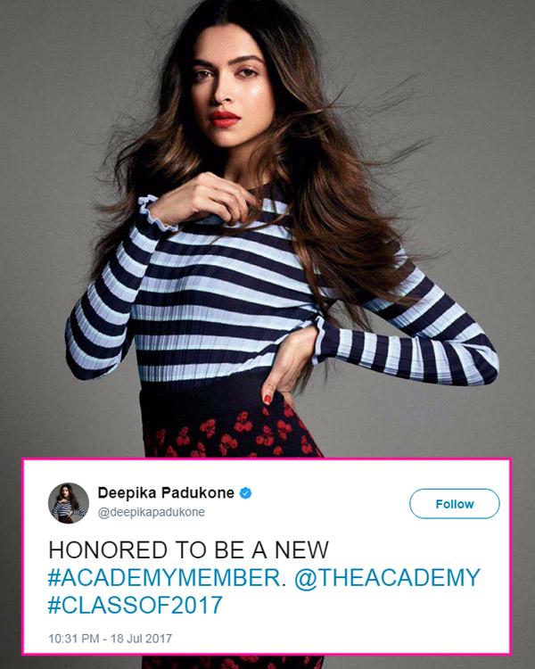Deepika Padukone was invited to Oscar Academy's Class of ...