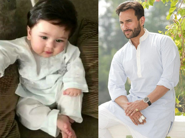 Image result for taimur ali khan with mom and dad