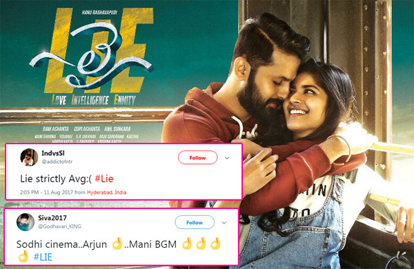 Lie movie review Nithiin's film gets mixed reaction on Twitter