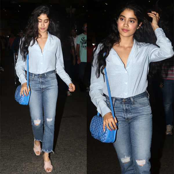 Jhanvi Kapoor Spotted At Airport