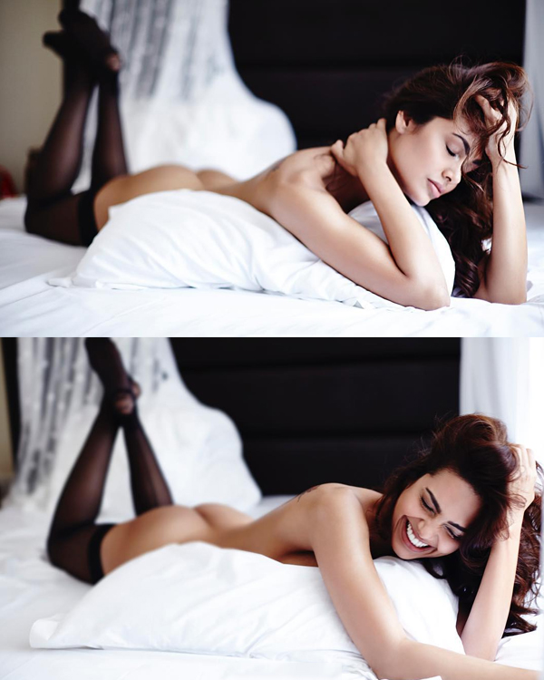 Esha Gupta again!!! Now covered assets with Pomegranate