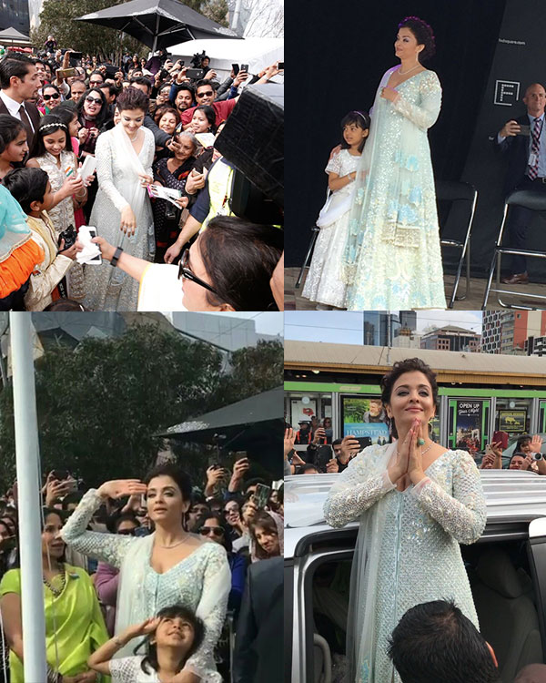 Aishwarya Rai Bachchan hoists Indian flag in Melbourne on Independence day