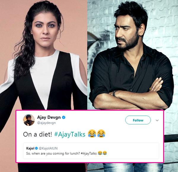 Ajay Devgn trolls wife Kajol on Twitter and we think it is utterly cute!