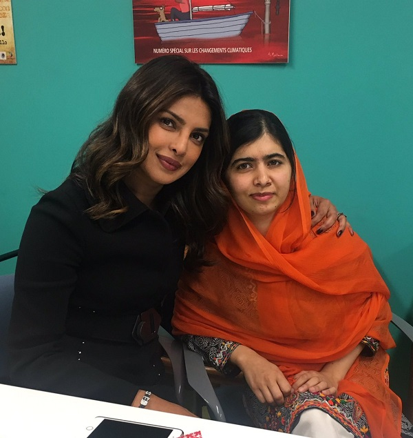 Priyanka Chopra had the sweetest moment with Malala Yousafzai