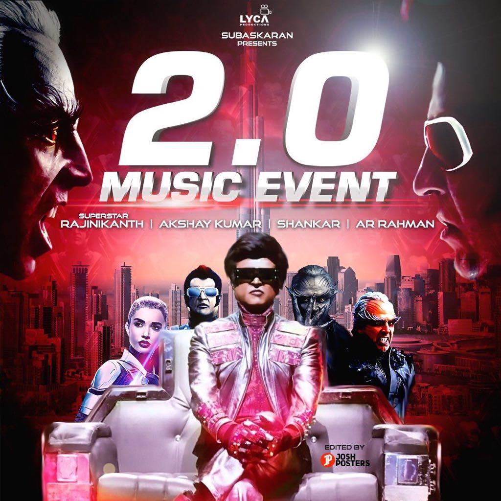 Two hours to go for Rajinikanth-Akshay Kumar\'s 2.0 audio launch ...