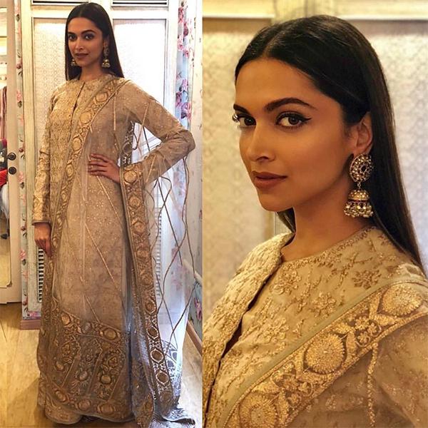 Deepika Padukone stunning look in saree at GQ Fashion Nights 2017