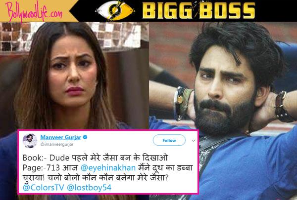Bigg Boss 11: Former victor Manveer Gurjar joins anti-Hina Khan gang