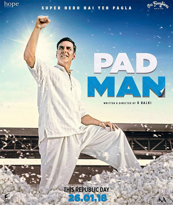 Akshay Kumar brings out superhero from the commoner — Padman's Superhero Poster