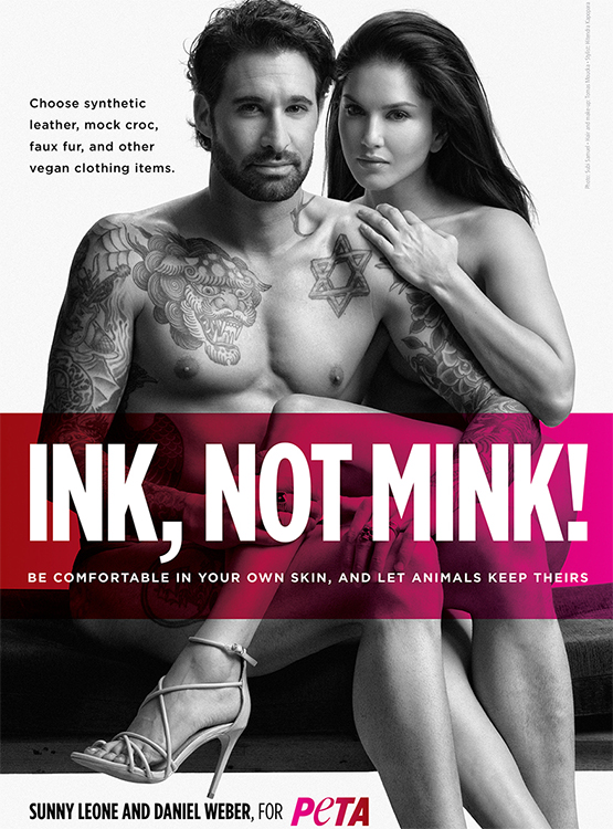 Sunny Leone and husband Daniel Weber go nude for their latest PETA campaign
