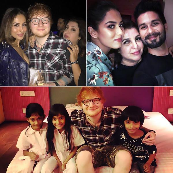 Bollywood parties with singer at Farah Khan's bash- See pics