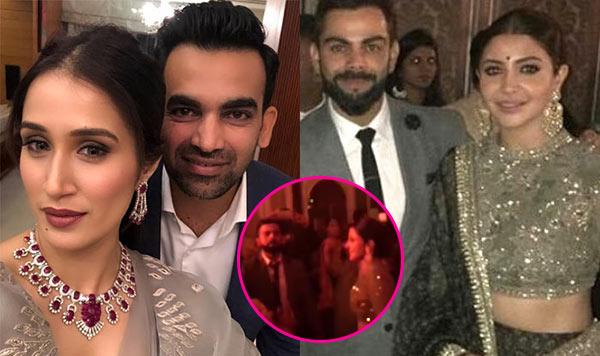 Virat And Anushka Groove To The Bollywood Beats At Zaheer-Sagarika's Reception