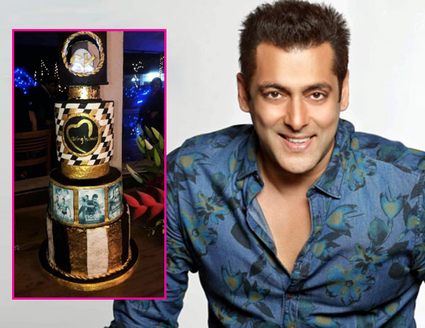 Salman Khans threetiered birthday cake is black gold and also has