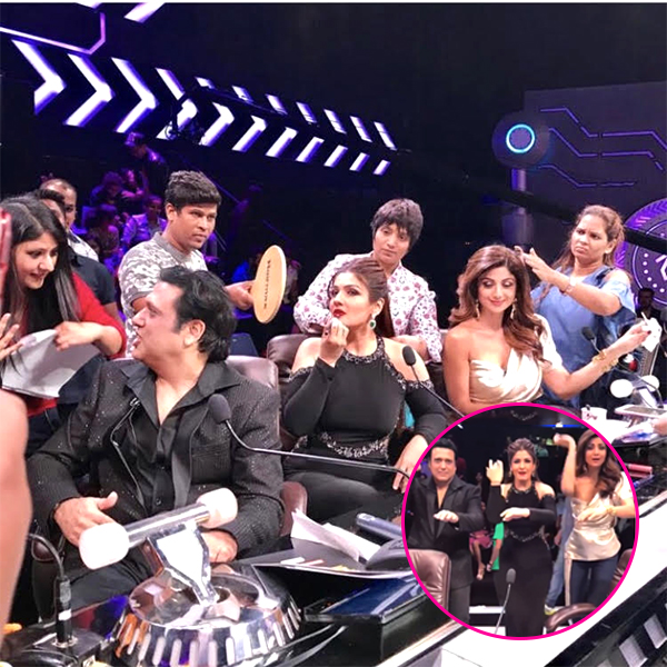 Shilpa shetty raveena tandon and govinda bring back the 90s on shilpa shetty raveena tandon and govinda bring back the 90s on the sets of thecheapjerseys Images