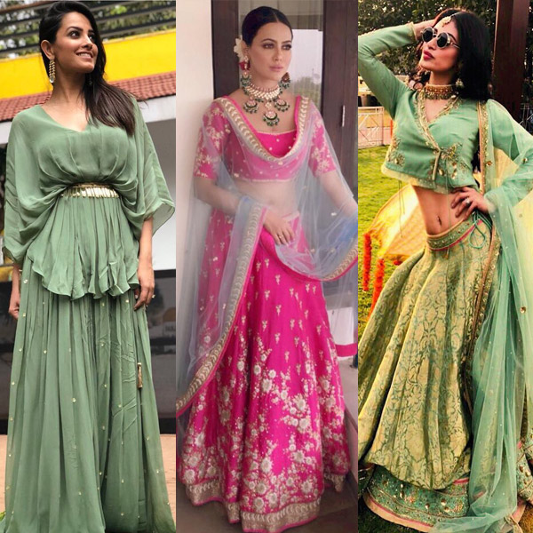 Mouni Roy Anita Hanandani And Sana Khan Give You A Crash Course On Wedding Fashion
