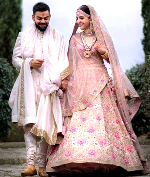 Image result for anushka sharma wedding