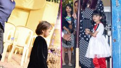 PIC ALERT !! Aishwarya Rai Bachchan, Abhishek Bachchan and Shah Rukh Khan attended Aaradhya and AbRam's annual day function event !!
